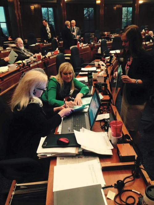 Working on the House floor